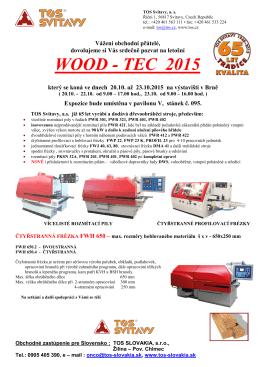 WOOD - TEC 2015 - TOS SLOVAKIA sro