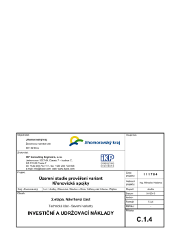 c.1.4 investiční a udržovací náklady