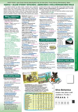 Inzerce + Zelené stránky Libereckého, Ústeckého a