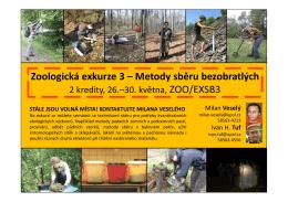 Zoologická exkurze 3 – Metody sběru bezobratlých