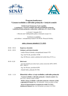 Význam textilního a oděvního průmyslu v českých zemích