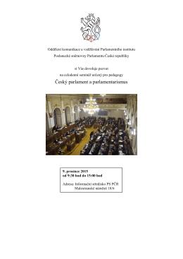 Program - Poslanecká sněmovna