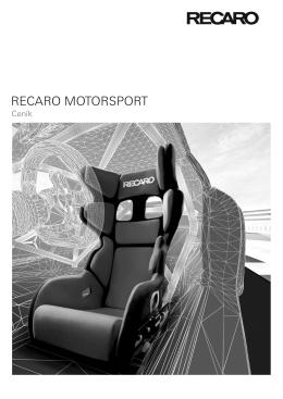 Závodní sedadla s homologací FIA