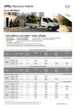 Movano Valnik - Užitkové vozy Opel