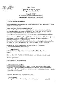 zápis ze zasedání 3.2.2015