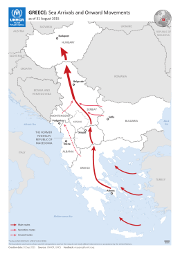 GREECE: Sea Arrivals and Onward Movements