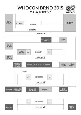 whocon brno 2015 mapa budovy