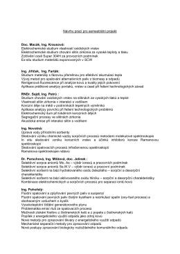 Návrhy prací pro semestrální projekt Doc. Macák, Ing. Krausová