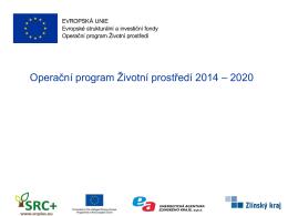 Operační program Životní prostředí 2014 – 2020