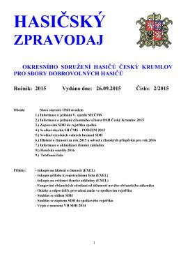 Hasičský zpravodaj - 2015.02