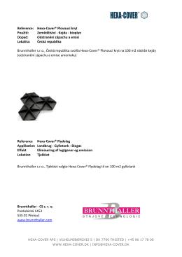 Hexa-Cover(R) Plovoucí kryt Reference - Hexa