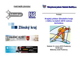 Krajský přebor Zlínského kraje v běhu na lyžích 2015 volnou technikou