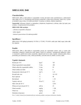SHELLSOL D40 - motorove