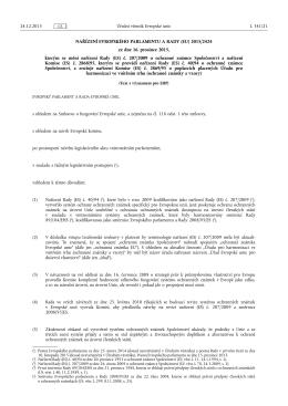 NAŘÍZENÍ EVROPSKÉHO PARLAMENTU A RADY (EU) 2015/ 2424