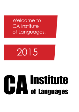 Welcome to CA Institute of Languages!