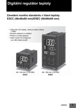 Digitální regulátor teploty E5CC