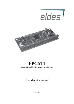 EPGM 1 drátový rozšiřující modul pro 16 zón Instalační manuál