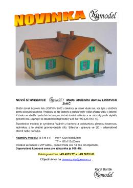 NOVÁ STAVEBNICE ! ! Model strážního domku LXXXVII