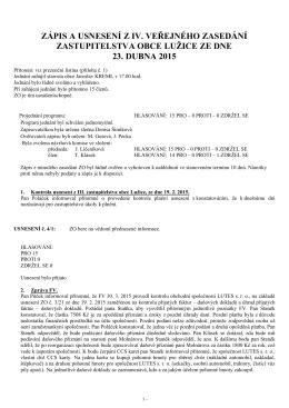 Zápis a usnesení z IX
