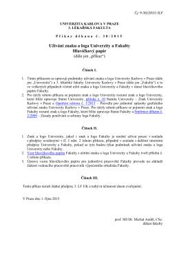 Užívání znaku a loga Univerzity a Fakulty