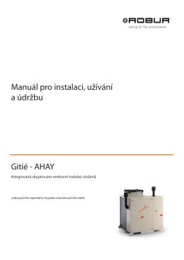Manuál pro instalaci, užívání a údržbu Gitié - AHAY