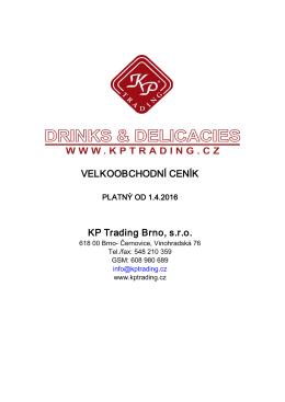 VELKOOBCHODNÍ CENÍK KP Trading Brno, s.r.o.