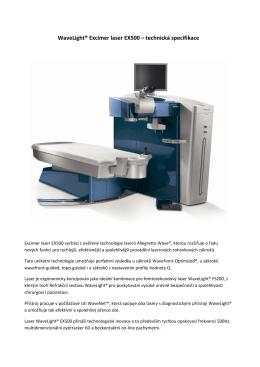 WaveLight® Excimer laser EX500 – technická specifikace