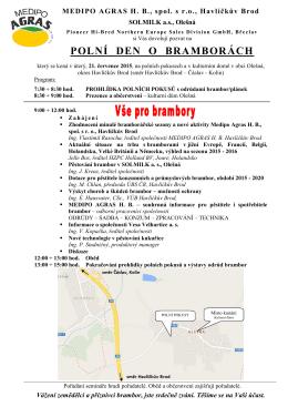 Pozvánka Olešná 2015