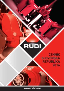 CENNÍK SLOVENSKÁ REPUBLIKA 2016