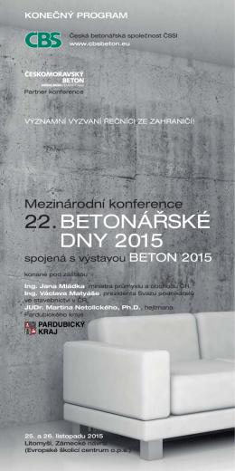 Konečný program - Česká betonářská společnost ČSSI