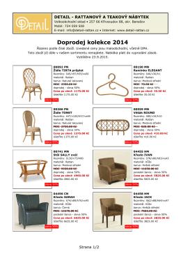 Doprodej kolekce 2014 Doprodej kolekce 2014