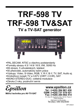 TRF-598 TV TRF-598 TV&SAT