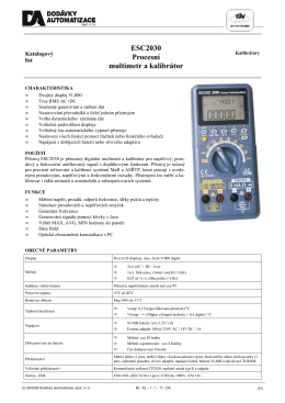 ESC2030 Procesní multimetr a kalibrátor