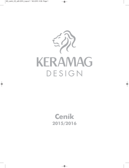 Ceník - Keramag Design