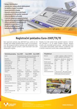 Registrační pokladna Euro-200T/TX/TE