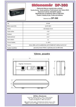 Sklonoměr DP-360 Sklonoměr DP-360