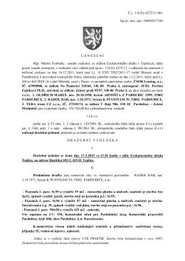 Č.j.: 110 Ex 6272/11-481 Sp.zn. zást. opr.
