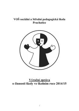 Výroční zpráva SPgŠ 2014/2015 ()