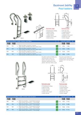 Bazénové žebříky Pool ladders