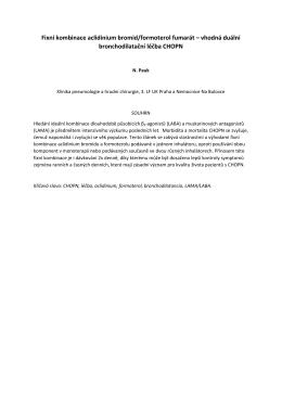 Fixní kombinace aclidinium bromid/formoterol fumarát – vhodná