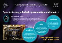 Spoutání energie hvězd v pozemských podmínkách