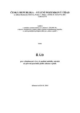 ČESKÁ REPUBLIKA – STÁTNÍ POZEMKOVÝ ÚŘAD