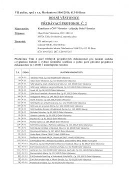 DOLNt VESTONICE PREDA VACt PROTOKOL C. 2