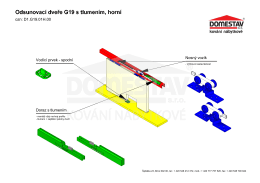 D1.G19.01H.00 Doraz s tlumením Nosný vozík Vodící prvek