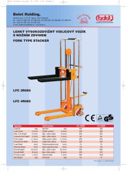 LFC 2N120 - vysokozdvižný vozík s nožním