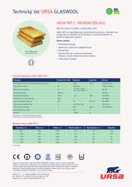 Technický list URSA FKP 1