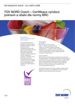 Certifikace výrobců potravin a obalů dle normy BRC