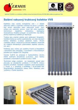 Solární vakuový trubicový kolektor VV8