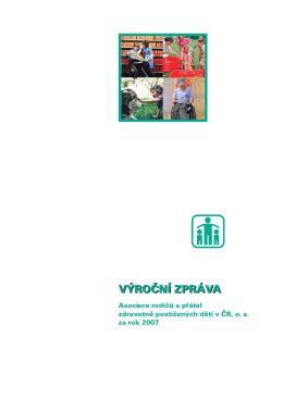 výroční zpráva - Asociace rodičů a přátel zdravotně postižených dětí