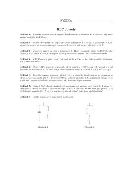FYZIKA RLC obvody